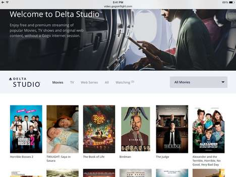 In-Flight Entertainment Apps - Delta Airlines Created Its Own Free Video Streaming Service