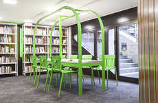 Retro-Modern Library Decor