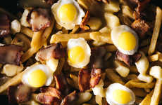Quail Egg Poutines - Iamafoodblog's Breakfast Poutine is a Gourmet Take on the Montreal Snack