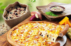 Healthy Multigrain Pizzas - Domino's Korea's Sweet Potato Pizza Crust Contains 15 Different Grains