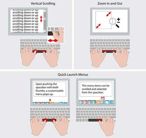 Touch-Based Spacebar Keys