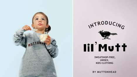 Gender-Neutral Kids Clothing - 'Muttonhead' Has Unveiled a New Line of Unisex Clothing for Children