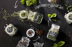 Chalkboard Spice Labels - 'Market Fresh' Labels are Hand-Drawn to Look like Art on a Chalkboard