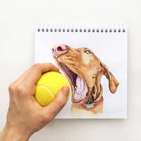 Playful Dog Illustrations