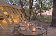 Luxurious Safari Lodges - The Sandibe Okavango Lounge is Opulent and Eco-Friendly