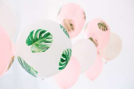 Tropical Decoupage Balloons