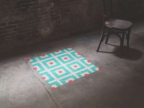 Geometric Tile-Like Installations