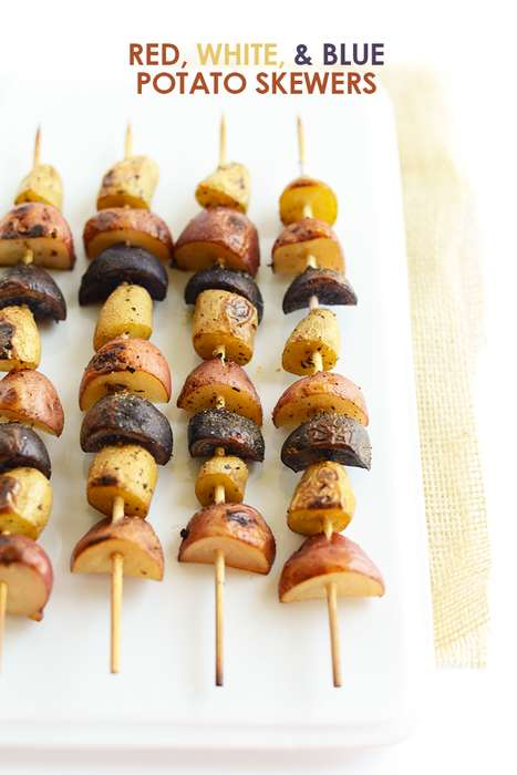 Patriotic Potato Skewers