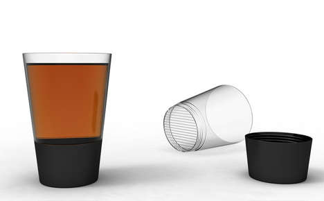 Tea-Steeping Tumblers - This Steeper Tea Cup Neatly Brews Your Favorite Infusion Right in the Glass