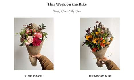 Bouquet Bike Deliveries - Petalon is a Flower Service Powered by Cyclists and Social Media