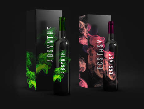 Smoky Wine Branding