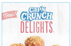 Cereal-Covered Donut Holes (UPDATE) - Taco Bell is Making Their Cap'N Crunch Cereal Treat Official