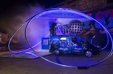 Futuristic Party Vans - Nissan's Part e-Van Can Make You Drinks and Spin Music For You to Party To