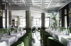 Luxurious Italian Diner Interiors - This Chic Restaurant in Amsterdam Blends Old and New World Charm