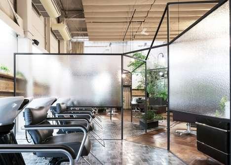 Shrouded Salon Interiors