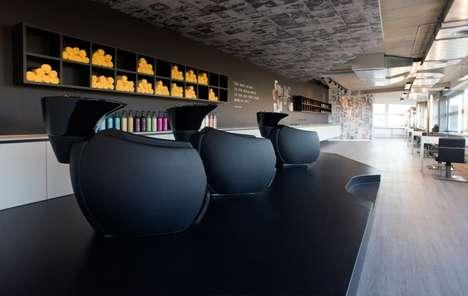 Monochrome Salon Interiors