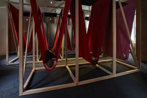 Group Napping Hammocks - London's Sleeperie Encourages Adults to Catch Up on Sleep in Public