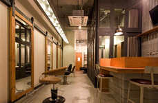 Rustic Salon Studios - This Stylish Industrial Hair Salon is Located in the Japan City of Nagoya