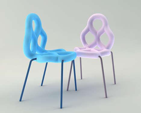 Colorful Pretzel Chairs