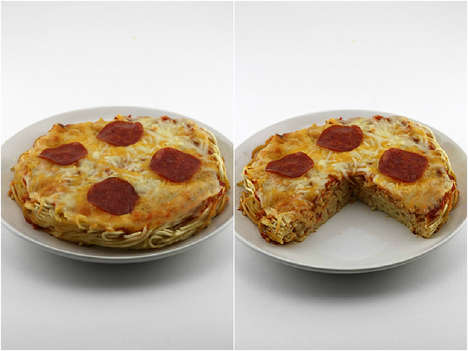 Two Popular Italian Dishes Were Combine to Make a Pasta Pizza Crust