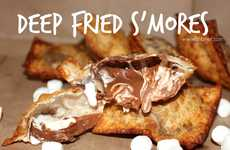 Deep Fried S'mores - This S'more Recipe Uses an Unconventional Cooking Method to Get Gooey Results