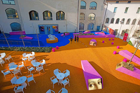 Brightly Colored Courtyards