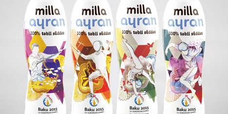 Sporty Drink Packaging - 'Milla' Launched Limited-Edition Labels Inspired by the European Games