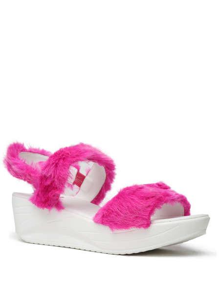 Furry Platform Sandals