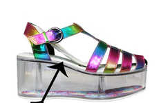 Customizable Rainbow Platforms - The Charii Rainbow Sandal Allows Weares to Make Their Own Accents