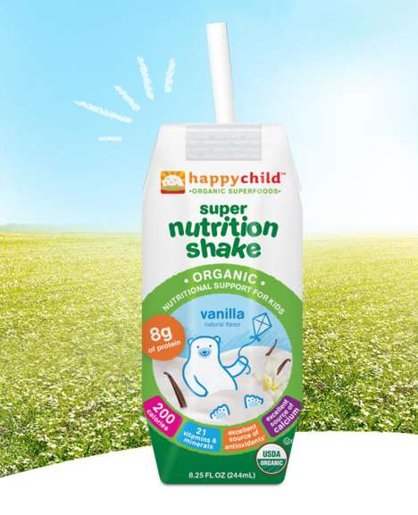 Kid-Friendly Superfood Drinks - Happy Family's Drink for Kids Contains No Artificial Ingredients