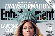 Transformation-Embracing Covers - Laverne Cox Graces Entertainment Weekly's LGBT Special Edition