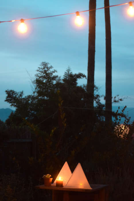 DIY Pyramid Lighting - The Crafty Love Lanterns Add a Romantic Touch to an Outdoor Wedding
