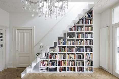 Staircase Bookshelf Storage