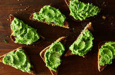Mint-Infused Veggie Spreads - This Minty Pea Puree on Toast Recipe is Light and Springy