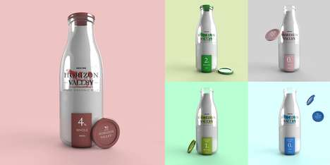 Organic Milk Branding - This English Organic Milk Brand Boasts a Pared Down Package Design