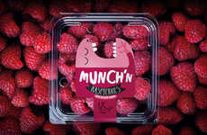Animated Produce Packaging - This Raspberry Packaging Might Eat Your Fruit Before You Get a Chance