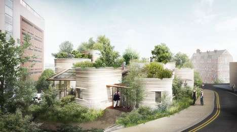 Plant Pot-Inspired Buildings