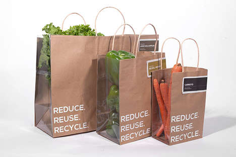 Transparent Produce Bags - These Produce Packaging Designs Emphasize Freshness