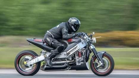Record-Breaking Turbine Motorcycles