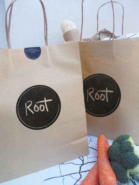 App-Connected Veggie Packaging - This City Farm Shop Concept Features Only Hyper-Local Produce