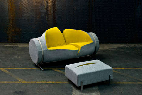 Slashed Sofa Sets - Charlotte Kingsworth Creates an Aggressively Comfortable Couch