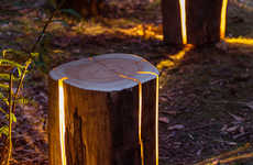 Cracked Log Lamps
