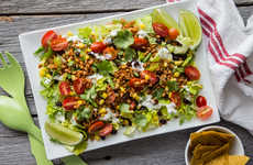 Meatless Taco Salads - This Recipe from Oh My Veggies Adheres to Vegan Diet Restrictions