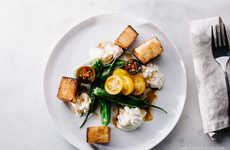 Meatless Oriental Salads - Iamafoodblog's Shishito and Burrata Bread Salad Blends Two Cultures