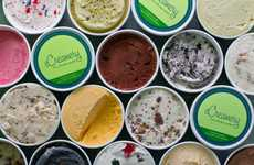 User-Generated Online Creameries - The eCreamery Parlor Allows Consumers to Personalize Their Pints