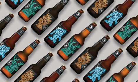 Bespoke Beer Branding - This Line of Microbrews 'Hors Série' Feature Sophisticated Bottle Designs