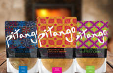 Graphic Soup Bag Branding - 'Pitango' Uses Graphically Patterned Bags to Package its Soup