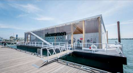 Floating Fitness Studios - The Nike Crystal Coliseum was a Pop-Up for Training Classes