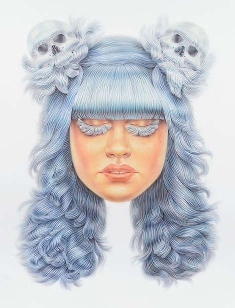 Skull Hair Illustrations
