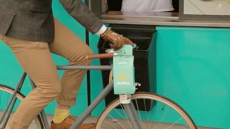 Fast Food Bike Carriers - 'McBike' is a Carryout Container Designed to Hook onto Handlebars